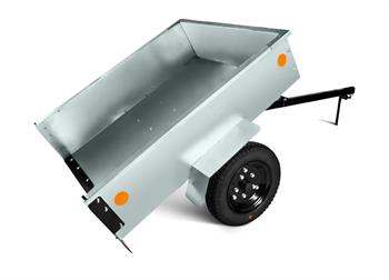 Тележка Мобил К ТПМ-350-1 оцинкованная разборная для садовых тракторов и райдеров вид 2