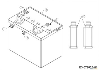 Аккумулятор для садового трактора 12 В 16 Ah арт. 725-1751 фото 4